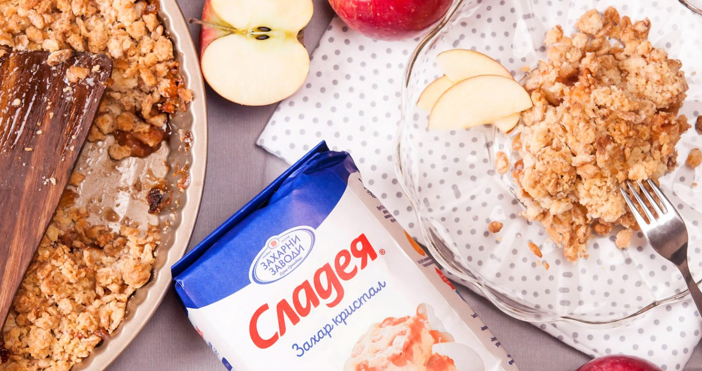 С аромат на есен – вкусното изкушение Крамбъл с ябълки